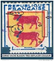 1951 N° 901 BÉARN BLASON OBLITÉRÉ - Errors & Oddities