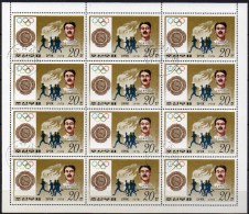Olympiade London Olympia-Sieger 1908 Korea 1762 12-KB O 5€ Halswelle Britain Lauf Bloc Olympic Winner M/s Sheetlet Corea