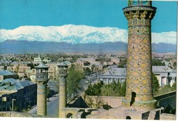 C P S M-C P M----IRAN-----TEHRAN MINARETS SEPAHSALAR-mosque Against The Tochal Mountains Persia.-- Voir 2 Scans - Iran