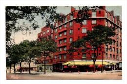 Paris 13 Boulevard Kellermann Vue Couleur Sur Un Groupe D'Immeubles De La Ville De Paris Et Cafe Kellermann Ecrite 1936 - Paris (13)