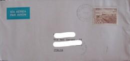 ESPANA SPAIN SPAGNA 2001 Isolated Single CASTILLOS Usado Used On Cover Complete Letter To Italy Postal History - 1931-Oggi: 2. Rep. - ... Juan Carlos I