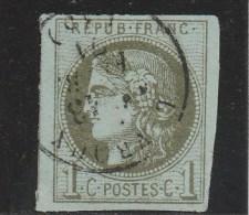 YVERT N° 39C LUXE OBLITERE - COTE = 175 EUROS - - 1870 Emission De Bordeaux