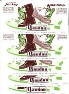 LOT DE 5 BUVARDS -BOTTES -BRODEQUINS -TENNIS -BAUDOU - - Buvards, Protège-cahiers Illustrés