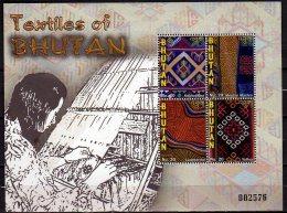 2010 Bhutan - Textile Of Bhutan  - MS  -  Paper - MNH** - Textil