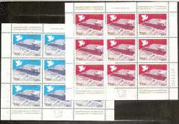 1977 Jugoslavia Yugoslavia CONFERENZA EUROPA EUROPE 9 Serie Di 2v. (1588/89) In 2 Foglietti MNH** 2 Minisheets - Blocchi & Foglietti