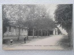 CPA 18 Le Camp D'AVORD (centre Militaire D'aviation ) Rue Du Mess Logement D'officier Supérieur Enfants Avec Un CERCEAU - Avord