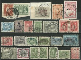 GREECE GREEK SMALL COLLECTION OF 22 GREEK POSTMARKS ON STAMPS - Postal Logo & Postmarks