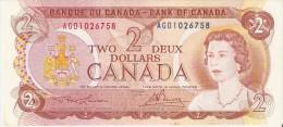 BILLETE DE CANADA DE 2 DOLARES DEL AÑO 1974  (BANKNOTE) SIN CIRCULAR-UNCIRCULATED - Kanada