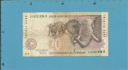 South Africa - 20 RAND - ( 1993 ) - Pick 124.a - Sign. 7 - Watermark: Elephant Head - 2 Scans - Afrique Du Sud
