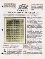 G)1996 MEXICO, AMEXFIL MAGAZINE, SPECIALIZED IN MEXICAN STAMPS, YEAR 14 VOL. 14-JAN-FEB- 1996-NUM. 76, XF - Riviste: Abbonamenti