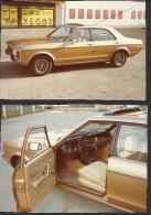 """Alter Oldtimer  """"Ford Granada""""   2 Stück   In Sehr Guter Erhaltung!   10,8 X 7,4 / 11 X 8 Cm - Automobiles"""