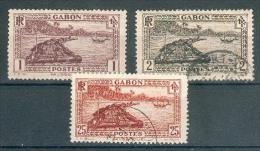 Collection GABON ; Colonie ; 1932-33 ; Y&T N 125-126-132 ; Neuf  Et Oblitéré - Gabon (1886-1936)