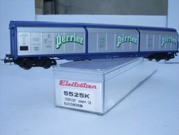 """ELECTROTREN H0 Réf.: 5525 K : Wagon à Parois Coulissantes """"PERRIER"""" - Wagons Marchandises"""