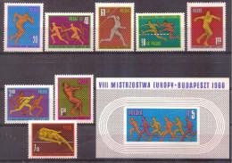 Poland 1966 - European Athletic Championships Budapest - 1944-.... Republic