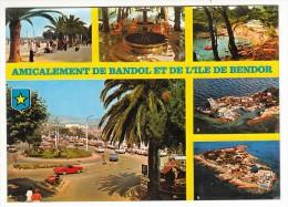 83 - Amicalement De Bandol Et De L'Ile De Bendor - Multi-vues - Editeur: Yvon N° 10/532 (voitures, Automobile) - Bandol