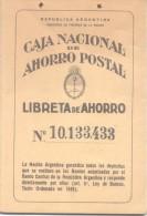 AFORROS SAVINGS EPARGNE LIBRETA DE AHORRO POSTAL SIN ESTAMPILLAS FISCALES AÑO 1956 REPUBLICA ARGENTINA - Historical Documents