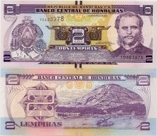 HONDURAS       2 Lempiras       P-New       1.3.2012       UNC - Honduras