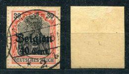 Dt. Besetzung Belgien Michel-Nr. 19 Vollstempel Auf Briefstück - Besetzungen 1914-18