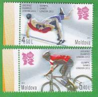 MOLDOVA  ; MOLDAU ; MOLDAWIEN ; LONDON  ;2012  ; Summer Olympic Games ;  2v ,  MNH - Summer 2012: London
