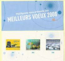 Bloc De 3 Vignettes Meilleurs Voeux 2008 - Commemorative Labels