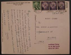 USA 1958 Washington Liberty United States Airmail Letter To Italy Used COVER Stati Uniti - Stati Uniti
