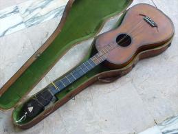 Guitare Romantique Circa 1850 Avec Sa Boite - Instruments De Musique