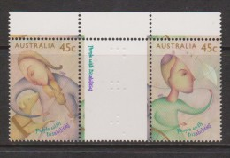 Australia 1995 Disability Gutter Pair With Imprint In Gutter MNH - 1990-99 Elizabeth II