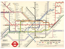 (250) London Underground Map - Subway