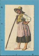 VIANA DO CASTELO - MULHER DO CAMPO - N.º 6 - Série B - Costumes Portugueses - Alberto Souza 1937 - Portugal - 2 Sca - Postal Stationery