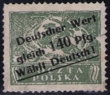 Aufdruck Deutscher Wert Gleich 140 Pfg Wählt Deutsch ! - 1939-44: World War Two