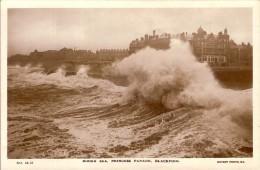 BLACKPOOL-ROUGH SEA-PRINCESS PARADE - Blackpool