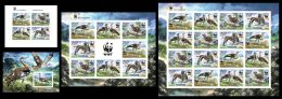 TOGO 2014 - WWF, Neotis Denhami. Complete IMPERFORATED Set. Official Issue - W.W.F.