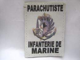 (PRIX SPECIAL) INSIGNE TISSUS PATCH PARACHUTISTE INFANTERIE DE MARINE RPIMa ETAT EXCELLENT SUR VELCRO