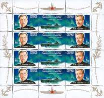 Russia 2007 Heroes Of Submarine Forces Minisheet MNH - Submarines