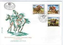 Yugoslavia, 1988, Horse Racing, FDC - FDC