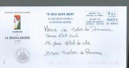 LETTRE FRANCE LA BOUILLADISSE Flamme En Provençal - Altri