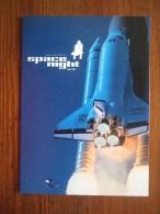 Space Night Shuttle Carte Postale - Advertising