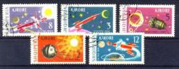 Albanien / Albania: ´Planetenforschung, 1963´ / ´Achievements In Space´, Mi. 779-783; Yv. PA 61-65; Sc. C68-72 Oo - Space