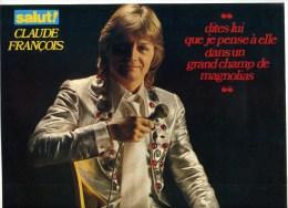 - POSTER CLAUDE FRANCOIS  . DOUBLE PAGE DU MAGAZINE SALUT! 1977 . - Plakate & Poster