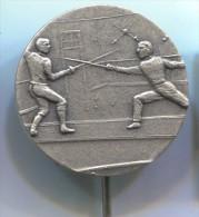 FENCING / SWORDSMANSHIP - Metal, Pin, Old Badge - Schermen