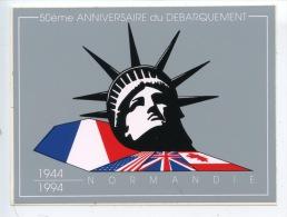 50è Anniversaire Du Débarquement 1944/1994 : Autocollant 12X9 D'Day Dessin Bresson Pour Cany Barville 76450 - Basse-Normandie