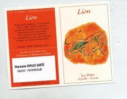 Calendrier Poche 2004 Laboratoire Hartmann Signe Zodiaque Lion - Small : 2001-...