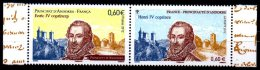 2012 FRANCE - ANDORRE FEUILLET PAIRE EMISSION COMMUNE HENRI IV COPRINCE NEUF** Tirage 35000 Ex