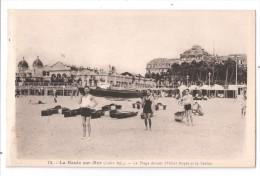 CP, 44, LA BAULE-sur-MER, La Plage Devant L'Hôtel Royal Et Le Casino, Vierge - La Baule-Escoublac
