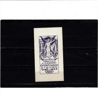 GRECIA - Splendida Etichetta  (con Gomma) Ricordo Olimpiadi 1896-1966 - Erinnofilia