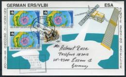 1992 Chile ESA Space Higgins Polar Satellite Antarctic Germany Deutsche Card - Forschungsprogramme