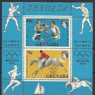 GD 1972-478-9 OLYMPIC GAMES MUNCHEN, GRENADA, S/S, ** - Sommer 1972: München