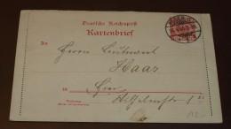 Deutsches Reich Brief Kartenbrief 10 Pfg. Posen O.  #cover2559 - Lettres & Documents