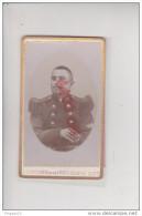 Au Plus Rapide CDV Photographe Agostini David Bastia Corse Portrait Militaire 163 ème émaillé Médaillon Relief - Guerre, Militaire