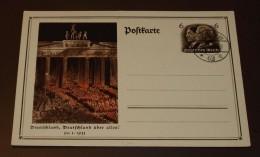 Deutsches Reich Brief  Karte Machtergreifung  Blanko Stempel  #cover2569 - Allemagne